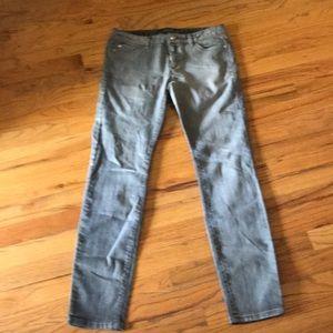 Like New- Gray Michael Kors Skinny Jeans